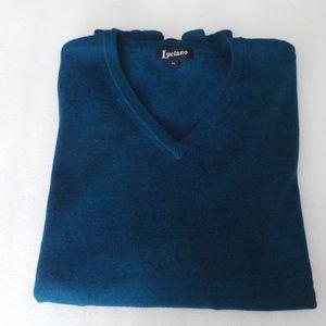 Luciano 100% Merino Wool Blue Sweater